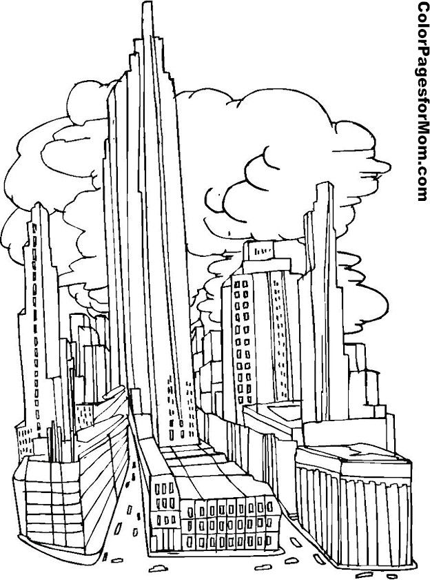 City Coloring Page 5