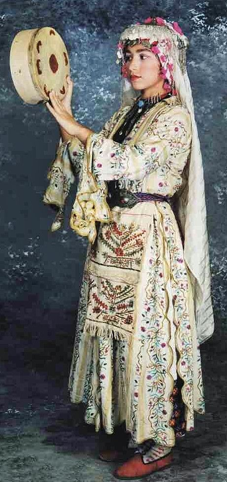 Traditional bridal/festive costume from the Izmir province. Circa 1925-1950.