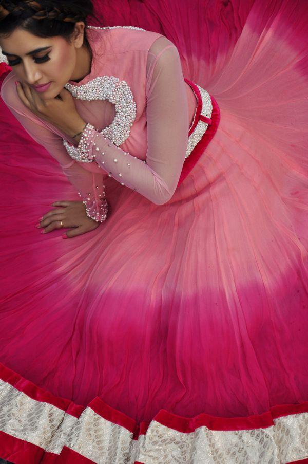 Pink Ombré #Lehenga.