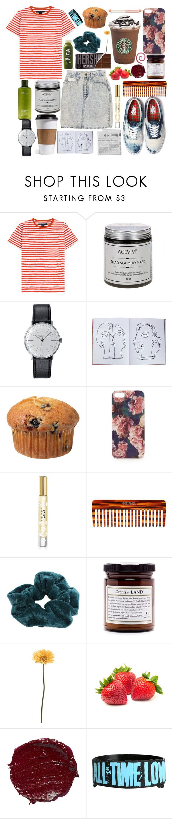 """the beach is for lovers not lonely hearts"" by paper-towns ❤ liked on Polyvore featuring Marc by Marc Jacobs, Vans, Origins, Junghans, Assouline Publishing, Topshop, Jane Iredale, Marc Jacobs, Mason Pearson and CO"