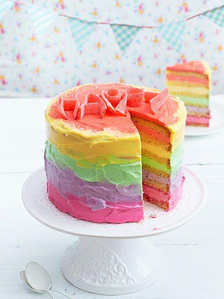 ... auf Pinterest Regenbogentorte, Geburtstagskuchen und Kuchen