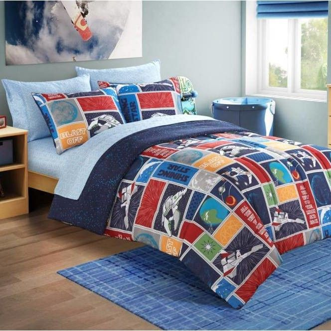Bed in a Bag Toddler Comforter Set in Space Stars