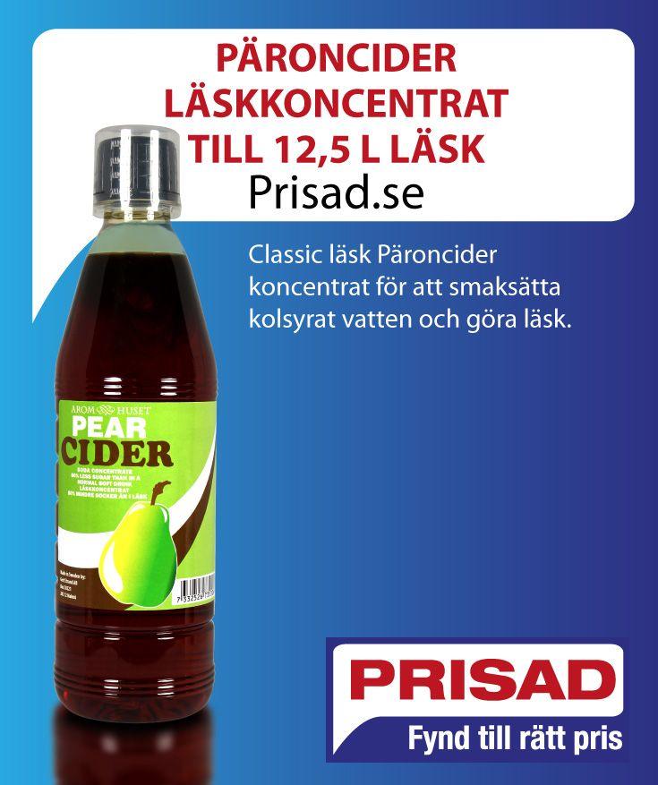 Classic läsk Päroncider koncentrat för att smaksätta kolsyrat vatten och göra läsk.