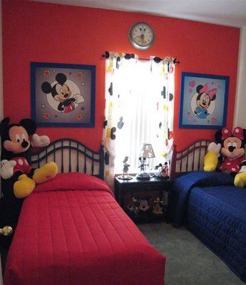 mickey mouse bedroom i don't even have kids yet but i want all this alreadt