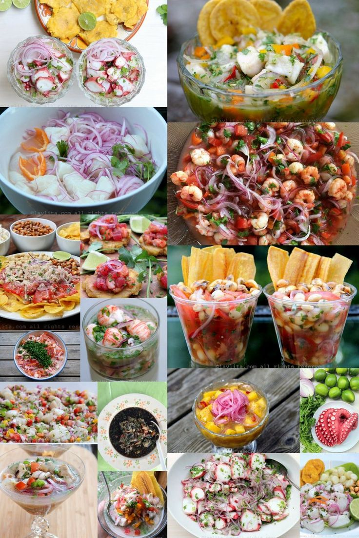Recipes for ceviche