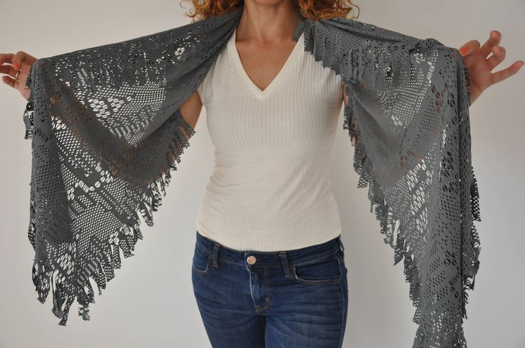 Lace cover ups, Lace pashmina, Dress cover ups, Grey pashmina, Lace bolero, Grey bolero, Lace cover up, Bridal cover ups, Bridal bolero