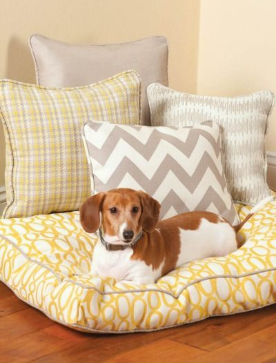 Box Cushion Dog Beds will keep Fido super comfy all fall and winter :) | DIY pet bed | home decor