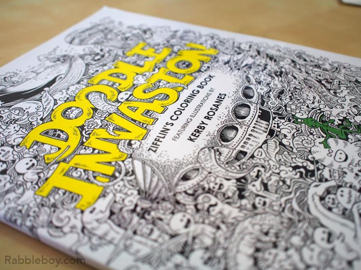 Best 25 Doodle Invasion A Crazy Coloring Book By Kerby Rosanes