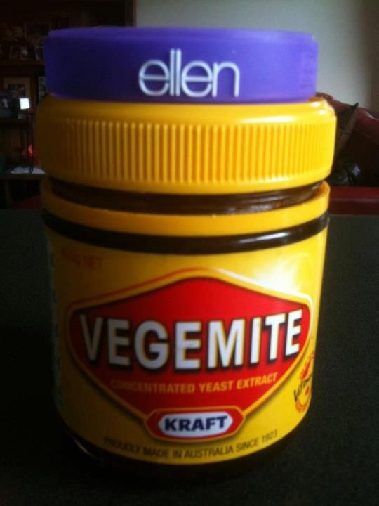 Watching the #Ellen show in Aus & seriously I'm not kidding Ellen is on top of the Vegemite taste!