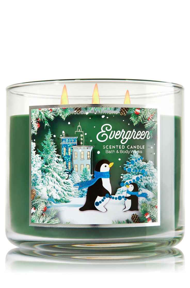 Bath and body works holiday scents - Evergreen 3 Wick Candle Home Fragrance 1037181 Bath Body Works