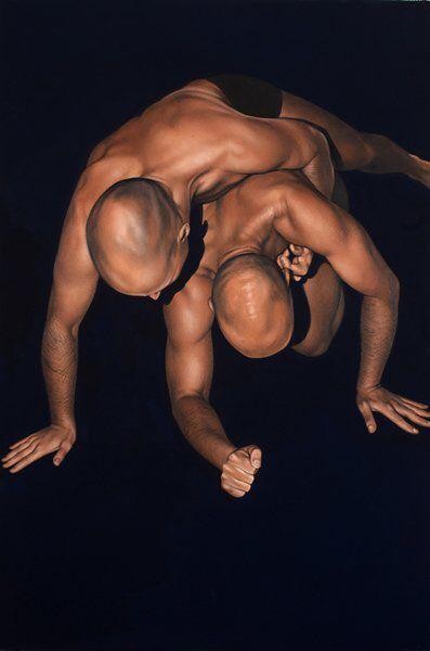 Antonella Cinelli dipinto olio e acrilico su tela ; oil and acrylic on canvas