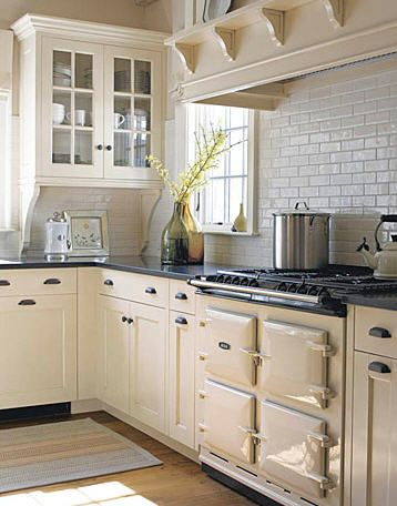 Textured tile, hood with plate rack