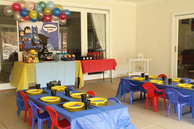 Superhero lego party ideas   boys birthday party