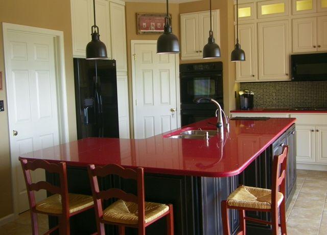 Black White Red Kitchen