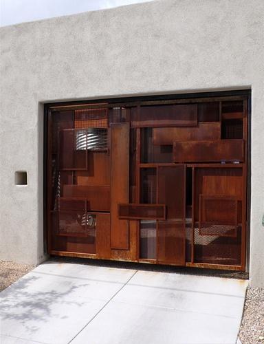 Brutalist garage door pretty cool should be cleaning not - Puertas para garage ...