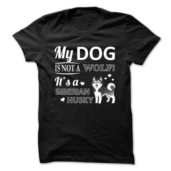 Awesome Siberian Husky Lovers Tee Shirts Gift for you or your family your friend:  Siberian Husky - Not A Wolf Tee Shirts T-Shirts