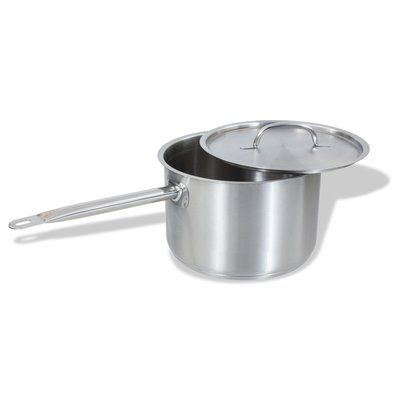 CRESTWARE Stainless Steel Saute Pan with Lid Size: 7 Qt.