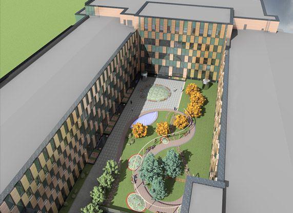 """Офисный комплекс """"Чайка Плаза"""", проект реконструкции.  Дизайн - aaba architects. http://aaba.ru/project_4/"""