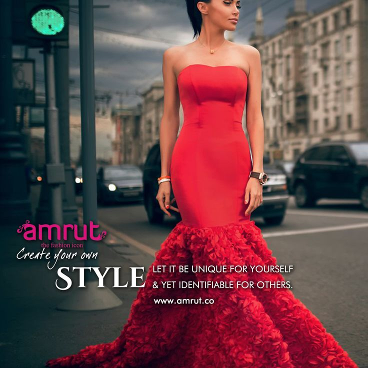 """""""Create your own style… let it be unique for yourself and yet identifiable for others.""""  -Anna Wintour  Be with Amrut - The Fashion Icon and feel the fashion!!!  www.amrut.co #FashionWorld #FashionForWomen"""