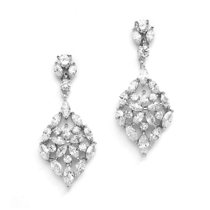 Sieraden - Oorbellen - Bruid - Bruidsoorbellen - Oorbellen bruid - Bridal jewellery - Crystal earrings - Oorbellen bruid crystals - Oorbellen Swarovski - Vintage oorbellen - Vintage earrings