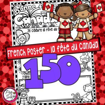 Canada Day Poster ~ French ~ La fête du Canada