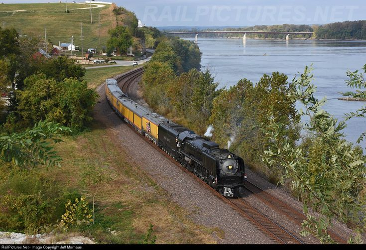 RailPictures.Net Photo: UP 844 Union Pacific Steam 4-8-4 at Herman, Missouri by Jeff Morhaus