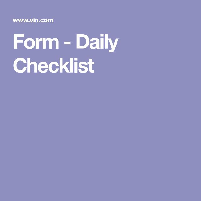 The 25+ best Daily checklist ideas on Pinterest Daily cleaning - daily checklist
