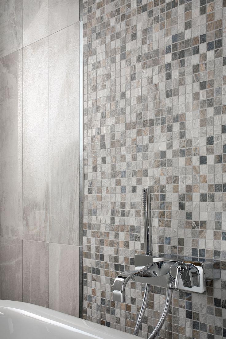 #Mosaïque parfaite pour ce #carrelage mural, s'adapte élégamment à vos salles de bains #déco