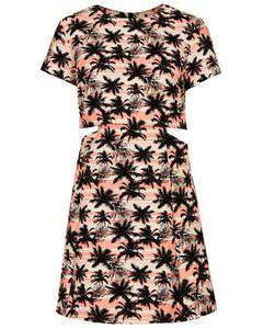 Topshop Palm Tree Crop Skater Dress