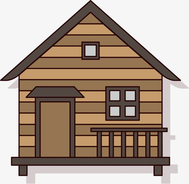 Cartoon Forest Hut Png And Vector Cartoon House Cabin House Clipart