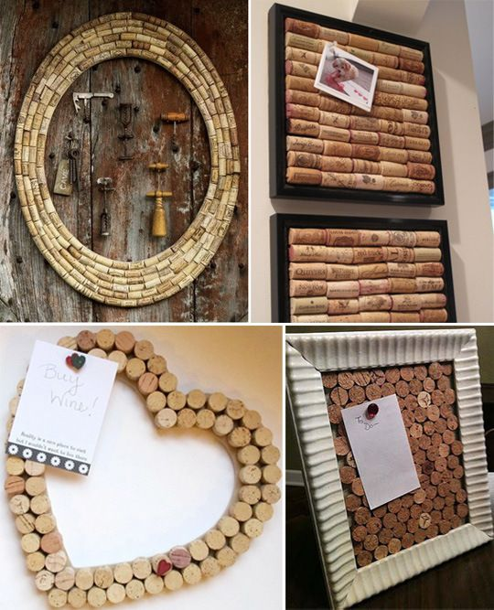 DIY Cork Boards; Great to post photos around the walls and also a modern accent to keep up all year around.