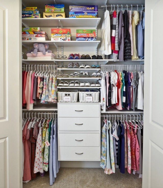 I can barely keep my own closet organized, let alone my kids'. That's why I need some serious inspiration for storing all the bits and bobs that end up in a child's closet. It's not always just clothes and shoes; there are toys, books, dress up clothes, and any number of other childhood necessities. Read on to see some inspirational closets and the elements we think are most worth using for your own system.
