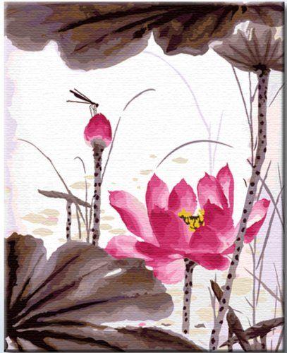 "Artsay Paint By Number Kit, Summer Lotus, 16"" X 20"" Artsay http://www.amazon.com/dp/B00JY72SVE/ref=cm_sw_r_pi_dp_Q0sYtb01HXW82FX8"