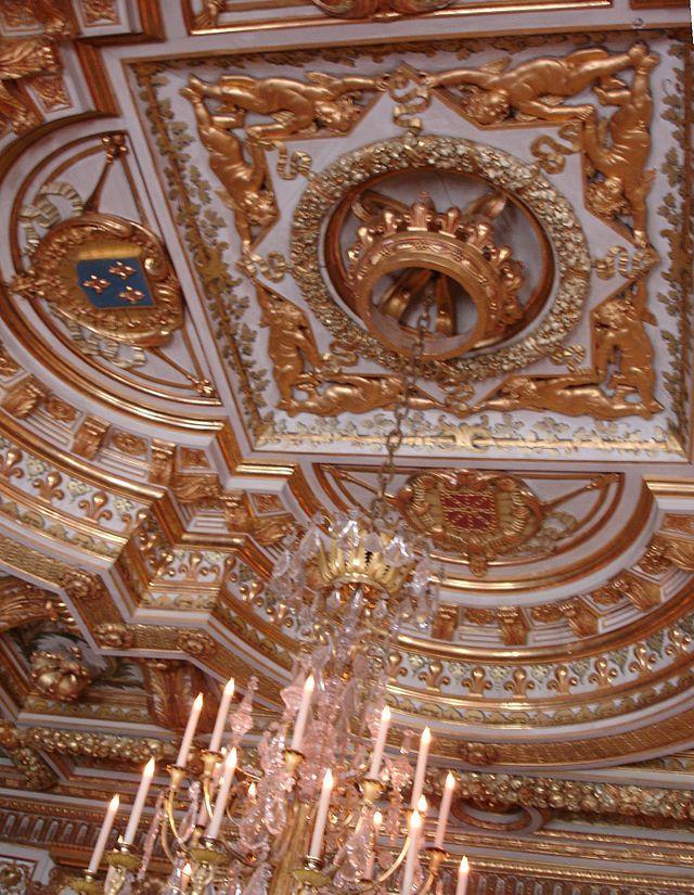 D tail plafond salle du tr ne la partie centrale est aux - Plafond a la francaise ...