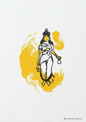 BramhaCharini 2nd Swaroop of Durga Out of 9 Swaroop Artist Mahendra Nagvanshi