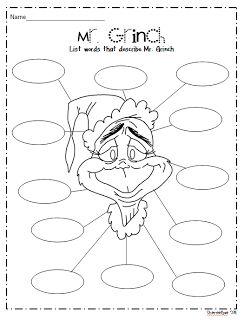 How the Grinch Stole Christmas - Descriptive Words Activity - Mr. Grinch