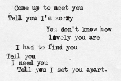 quote-a-lyric:br br Coldplay - The Scientistbr Submitted by... photo 1