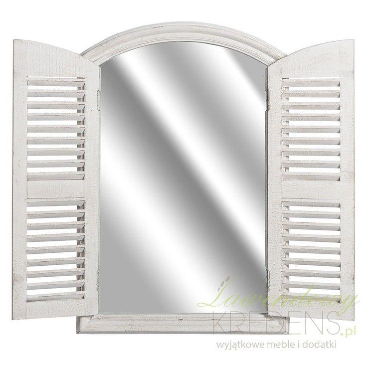 Fantastyczne lustra prowansalskie prezentowane przez firmę Belldeco, które swoim wyglądem zachwycą każdego. Dzięki dwuskrzydłowej okiennicy lustro Belldeco jest fantastyczną ozdobą zarówno, gdy okiennice są zamknięte jak i wtedy gdy swobodnie można się w nim przeglądać. Dodatkowo okiennice posiadają stylowe zamknięcie w formie metalowego haczyka.  Nie przegap swojej szansy na niezwykłe wnętrze!