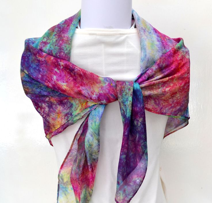 Silk Scarf, Hand dyed Silk Scarf, Square Silk Scarf, 35 x 35 inches, Gift For Her, Made in Australia by SallyAnnesSilks on Etsy S134 by SallyAnnesSilks on Etsy https://www.etsy.com/au/listing/473526974/silk-scarf-hand-dyed-silk-scarf-square