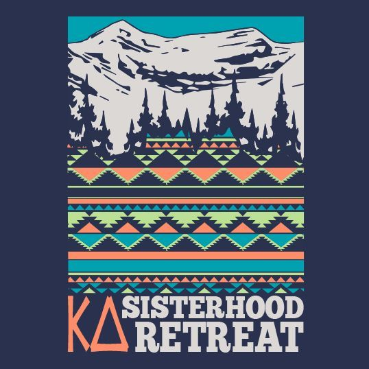 KD | Kappa Delta | Mountains | Sisterhood Retreat | Sorority | shirtsforgreeks.com