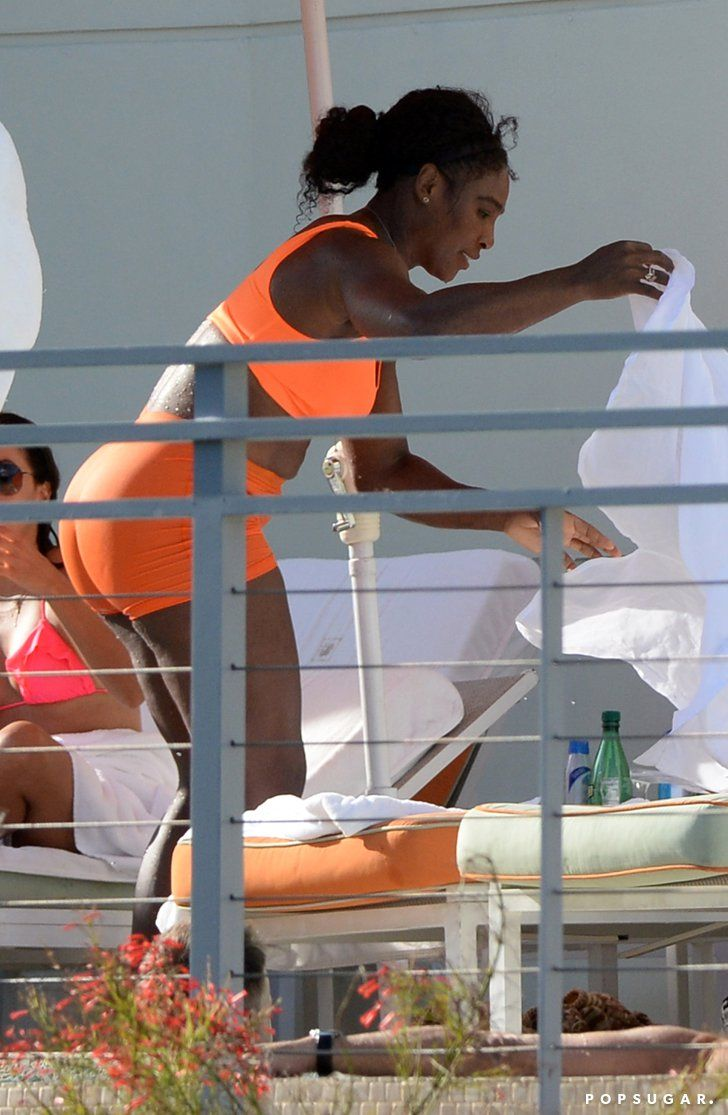 Pin for Later: Bikini-Clad Serena Williams and Eva Longoria Spend Easter Sunday by the Pool