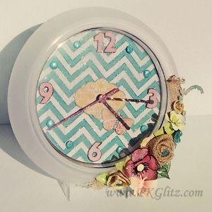 Glam Chevron Clock