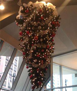 knocked upside down christmas tree christmas trees onlineartificial - Cheap Christmas Trees Online