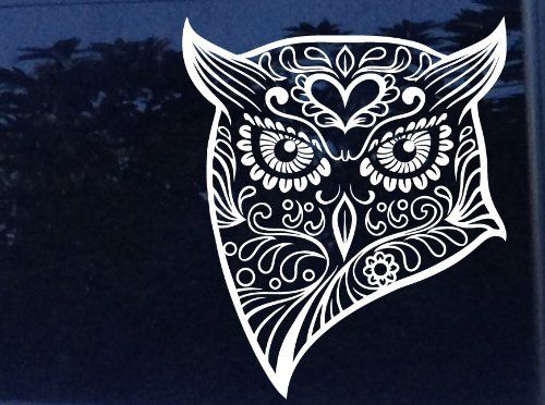 Owl Skull Sticker
