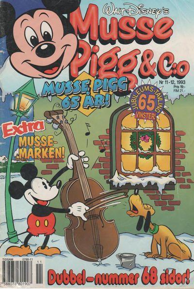 Cover for Musse Pigg & C:o (Serieförlaget [1980-talet], 1993 series) #11-12/1993