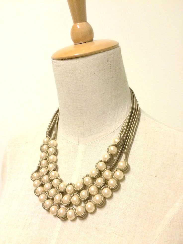 3-Layer Pearl Necklace