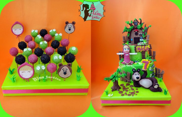 Masha and the bear cake ..... Maša i medved