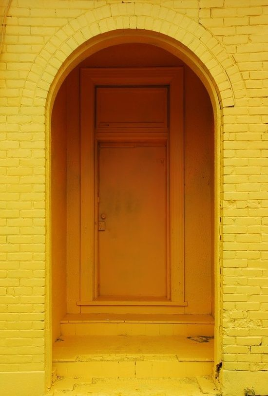 Yellow doorway