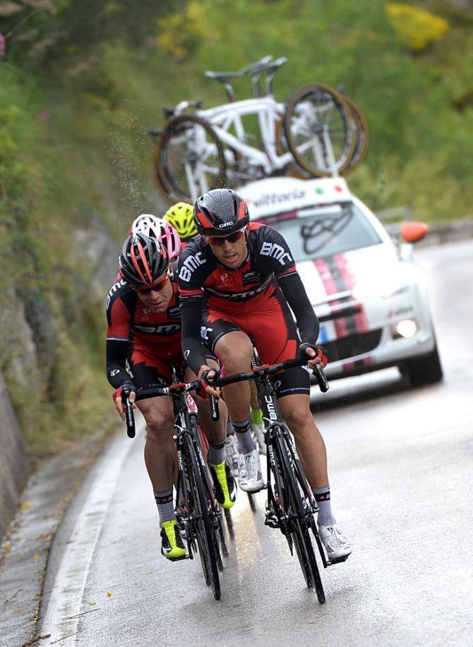 Giro d'Italia 2014 - Stage 6 - Steve Morabito works for Cadel Evans