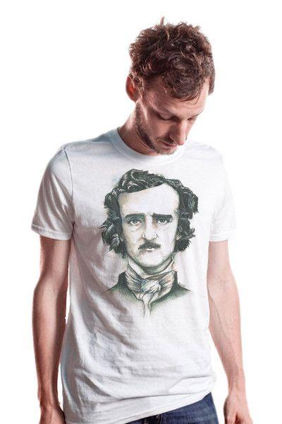 T-shirt à vendre d'Egar Allan Poe sur Mister Dress UP : http://www.misterdressup.com/products/stephane-lauzon-edgar-allan-poe-t-shirt